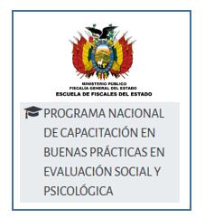 PROGRAMA NACIONAL DE CAPACITACIÓN EN BUENAS PRÁCTICAS EN EVALUACIÓN SOCIAL Y PSICOLÓGICA