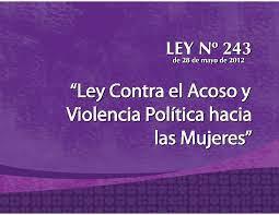 TALLER: CONTRA EL ACOSO Y VIOLENCIA POLÍTICA HACIA LA MUJER, EN EL MARCO DE LA IMPLEMENTACIÓN DE LA LEY N° 243 GRUPOS 1 y 2