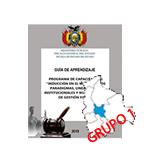 """INDUCCIÓN EN EL MARCO DE LOS PARADIGMAS, LINEAMIENTOS INSTITUCIONALES Y NUEVO MODELO DE GESTIÓN FISCAL """"COCHABAMBA""""  G1"""