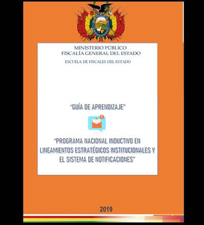 PROGRAMA NACIONAL INDUCTIVO EN LINEAMIENTOS ESTRATÉGICOS INSTITUCIONALES Y EL SISTEMA DE NOTIFICACIONES